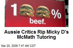 Aussie Critics Rip Micky D's McMath Tutoring