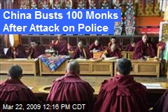 China Busts 100 Monks After Attack on Police