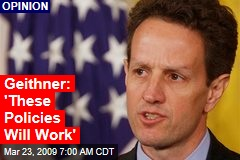 Geithner: 'These Policies Will Work'