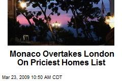 Monaco Overtakes London On Priciest Homes List
