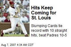 Hits Keep Coming for St. Louis