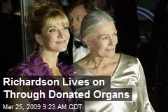 Richardson Lives on Through Donated Organs
