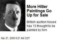 More Hitler Paintings Go Up for Sale