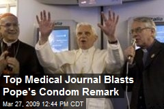 Top Medical Journal Blasts Pope's Condom Remark