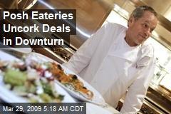 Posh Eateries Uncork Deals in Downturn