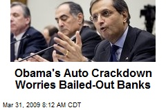 Obama's Auto Crackdown Worries Bailed-Out Banks