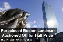 Foreclosed Boston Landmark Auctioned Off for Half Price