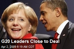 G20 Leaders Close to Deal