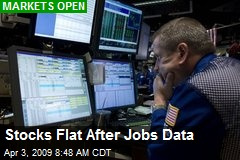Stocks Flat After Jobs Data