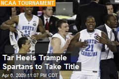 Tar Heels Trample Spartans to Take Title