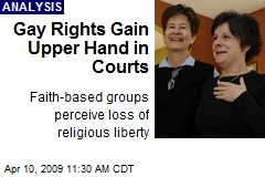 Gay Rights Gain Upper Hand in Courts