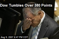 Dow Tumbles Over 380 Points