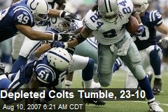 Depleted Colts Tumble, 23-10