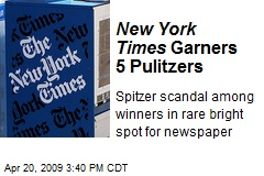 New York Times Garners 5 Pulitzers