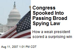 Congress Spooked Into Passing Broad Spying Law