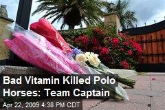Bad Vitamin Killed Polo Horses: Team Captain