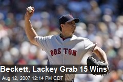 Beckett, Lackey Grab 15 Wins