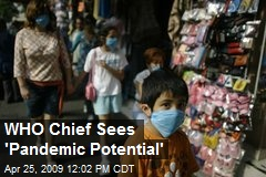 WHO Chief Sees 'Pandemic Potential'
