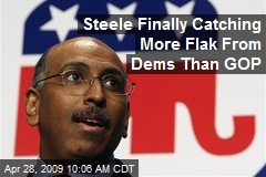 Steele Finally Catching More Flak From Dems Than GOP