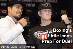 Boxing's Little Icons Prep For Duel