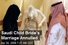 Saudi Child Bride's Marriage Annulled