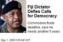 Fiji Dictator Defies Calls for Democracy