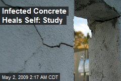 Infected Concrete Heals Self: Study