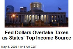 Fed Dollars Overtake Taxes as States' Top Income Source