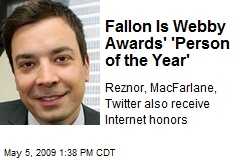 Fallon Is Webby Awards' 'Person of the Year'