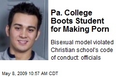 Pa. College Boots Student for Making Porn