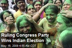 Ruling Congress Party Wins Indian Election