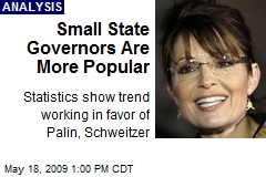 Small State Governors Are More Popular