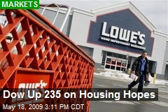 Dow Up 235 on Housing Hopes