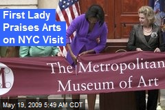 First Lady Praises Arts on NYC Visit