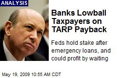 Banks Lowball Taxpayers on TARP Payback