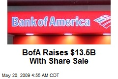 BofA Raises $13.5B With Share Sale