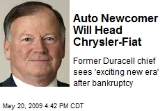 Auto Newcomer Will Head Chrysler-Fiat