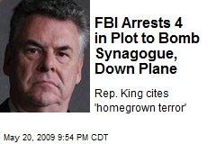 FBI Arrests 4 in Plot to Bomb Synagogue, Down Plane