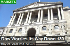 Dow Worries Its Way Down 130
