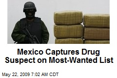 Mexico Captures Drug Suspect on Most-Wanted List