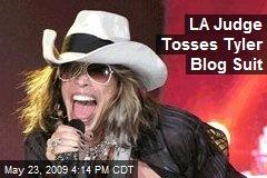 LA Judge Tosses Tyler Blog Suit