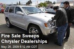 Fire Sale Sweeps Chrysler Dealerships