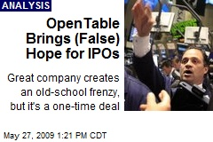 OpenTable Brings (False) Hope for IPOs
