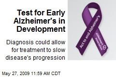 Test for Early Alzheimer's in Development