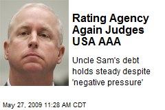 Rating Agency Again Judges USA AAA
