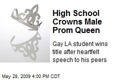 High School Crowns Male Prom Queen