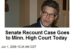 Senate Recount Case Goes to Minn. High Court Today