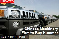 Chinese Machinery Firm to Buy Hummer