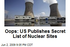 Oops: US Publishes Secret List of Nuclear Sites