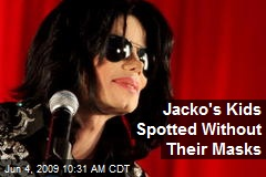 Jacko's Kids Spotted Without Their Masks